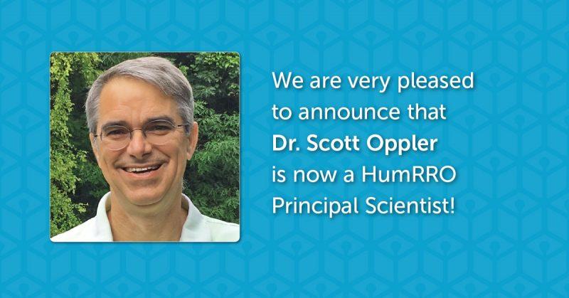 Welcoming Scott Oppler as a Principal Scientist